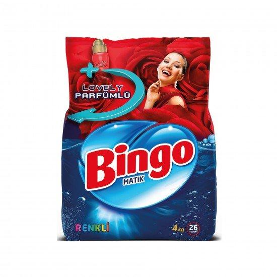 Bingo Renkli Toz Çamaşır Deterjanı 4 kg