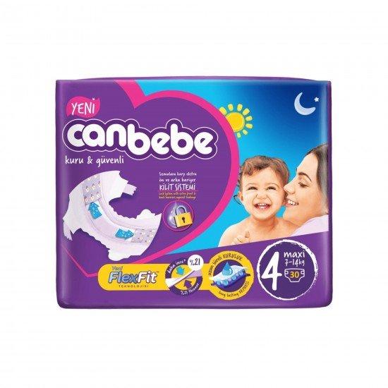 Canbebe Bebek Bezi 4 Numara 30 Adet Maxi Jumbo Paket