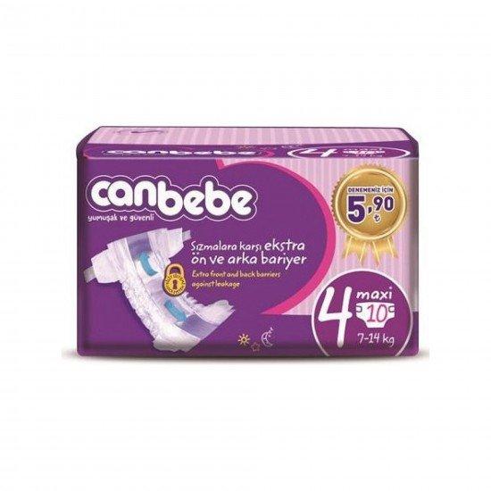 Canbebe Bebek Bezi Deneme Paketi 4 Beden 10lu