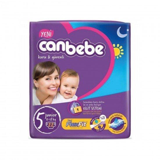 Canbebe Jumbo Junior Bebek Bezi 5 Beden 22 Adet