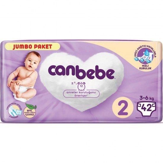 Canbebe Jumbo Mini Bebek Bezi 2 Beden 42li