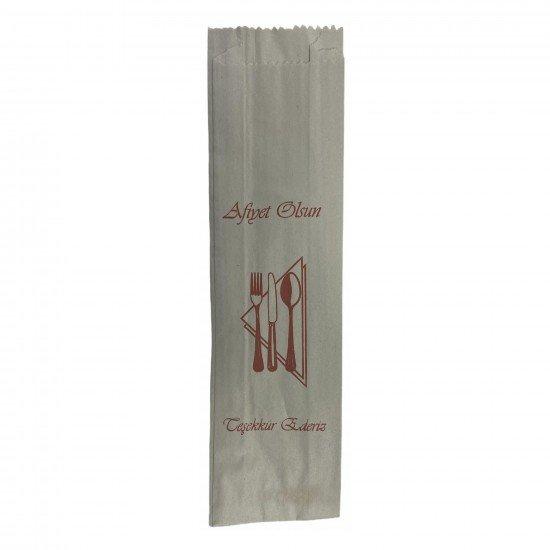 Çatal-Kaşık-Bıçak Kılıfı Kese Kağıdı Baskılı 7x27 Cm 1 Kg
