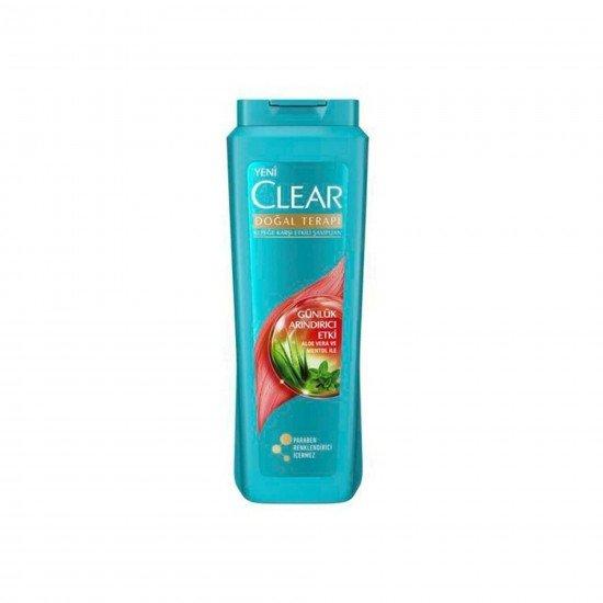 Clear Doğal Terapi Kepeğe Karşı Etkili Aloe Vera ve Mentollü Şampuan 500 ML