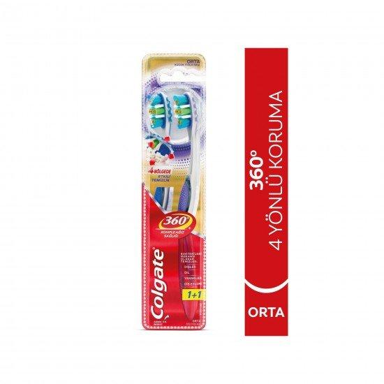 Colgate 360 gelişmiş Diş Fırçası Orta 1+1