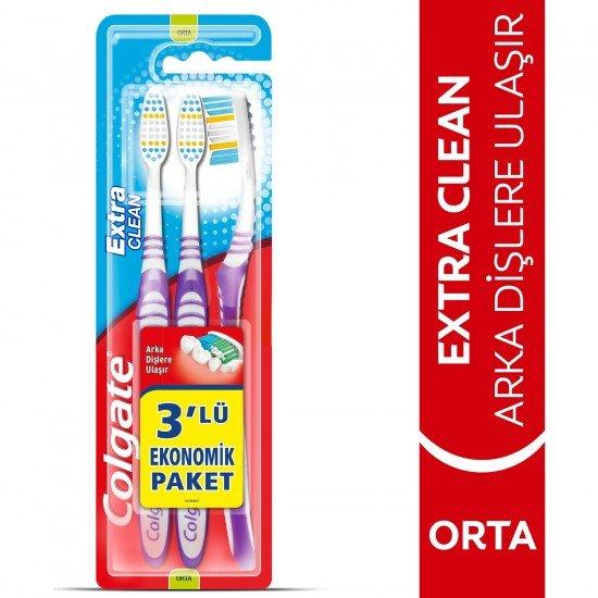 Colgate Extra Clean Diş Fırçası Medium 2+1