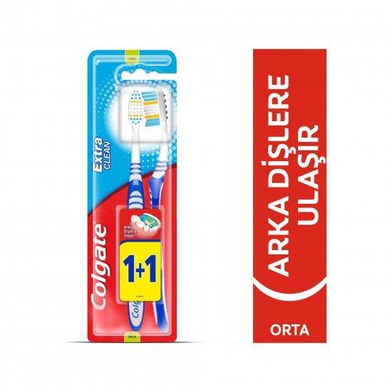Colgate Extra Clean Diş Fırçası Orta 1+1