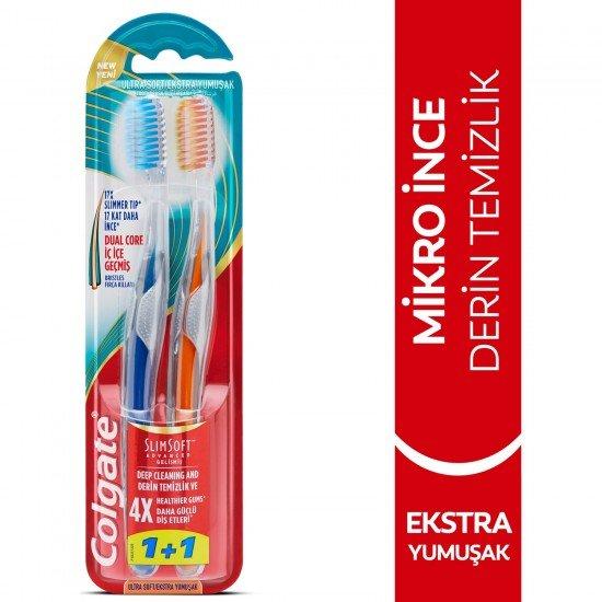 Colgate Mikro İnce Gelişmiş Diş Fırçası Extra Yumuşak 1+1