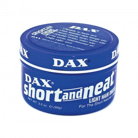 Dax Short and Neat - Düz Saçlar için Orta Tutucu Şekillendirici Wax 99 GR