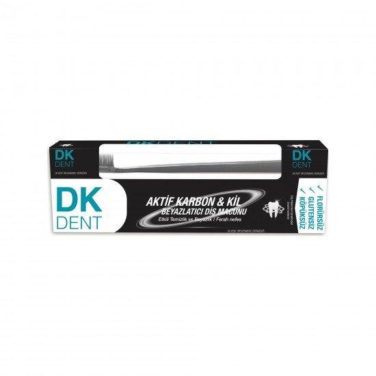 Dermokil DK Dent Kil Ve Aktif Karbonlu Diş Macunu + Fırçalı 75 ML