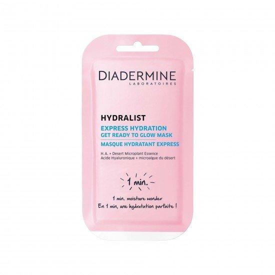 Diadermine Hydralist Express Hydration - Get Ready To Glow Cilt Maskesi 8 ML