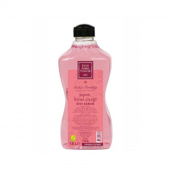Doğal Zeytinyağlı Sıvı Sabun Japon Kiraz Çiçeği 1.5 LT