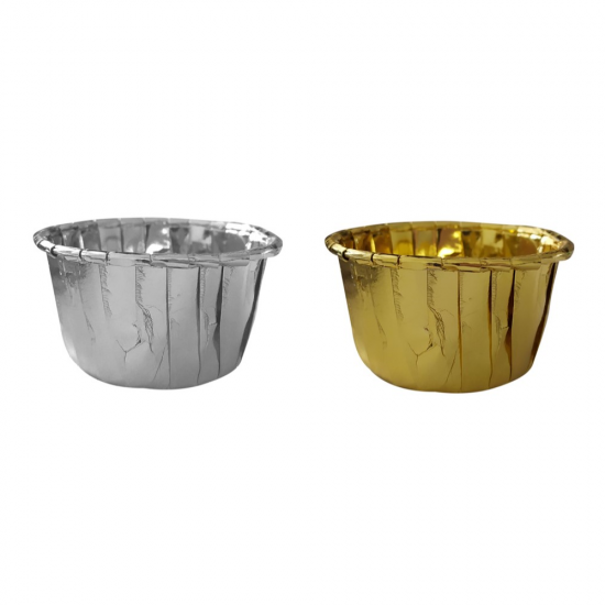 Dolphin Altın - Gümüş Muffin Kek Kapsülü 25li