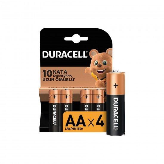 Duracell Alkalin AA Kalem Pil Paket 4 LÜ