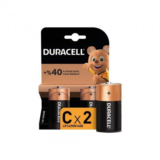 Duracell Pil C Orta Boy 2 Lİ