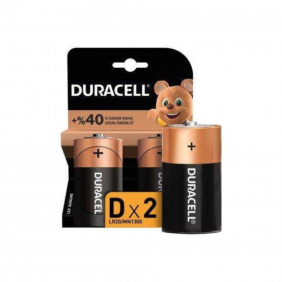 Duracell Pil D Büyük Boy Lr-20 2 Lİ