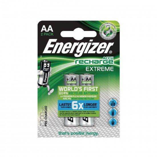 Energizer AA Sarjlı Kalem Pil Recharge Extreme Batteries 2300 mAh
