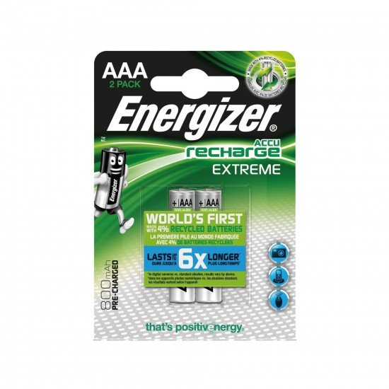 Energizer AAA Sarjlı Kalem Pil Recharge Extreme Batteries 800 mAh