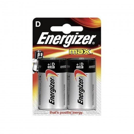 Energizer (D44-0457) Max Base Alkalin D Boy 2li Blister Pil