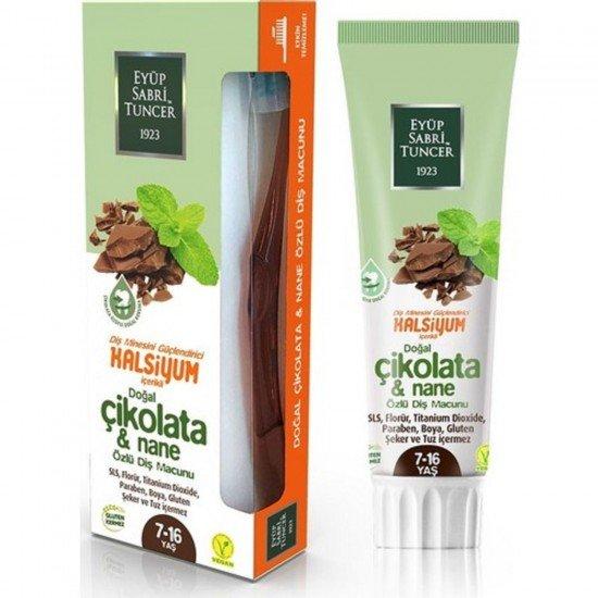 Eyüp Sabri Tuncer Çikolata & Nane Özlü Diş Macunu 7-16 Yaş 75 ml