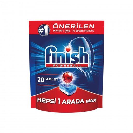 Finish Hepsi Bir Arada Bulaşık Makinesi Deterjanı 20 Tablet