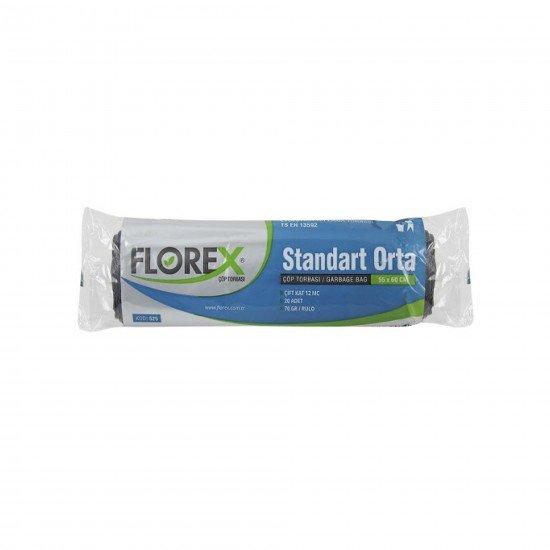 Florex Standart Orta Boy Çöp Torbası 20 Adet 55 X 60 Cm