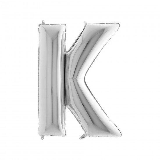 Folyo Balon Harf K Gümüş 40 İnc 100 Cm