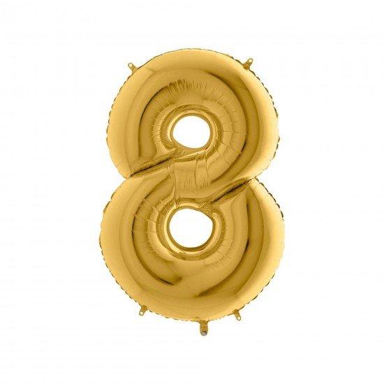 Folyo Balon Rakam 8 Gold 40 İnc 100 Cm