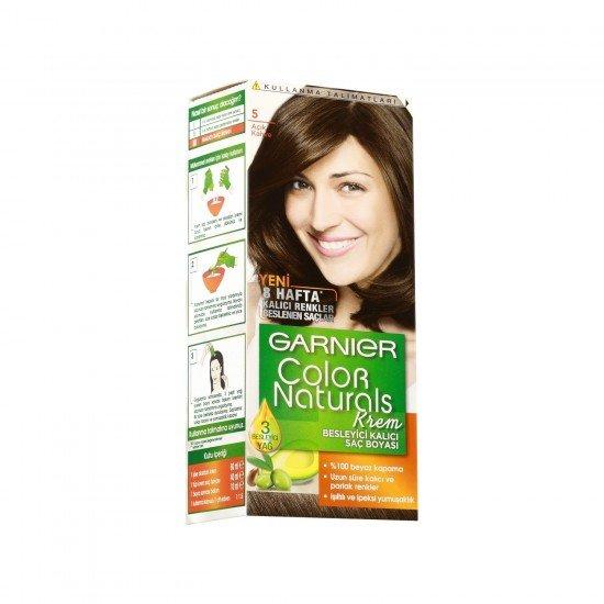 Garnier Color Naturals 5.0 Açık Kahve Saç Boyası