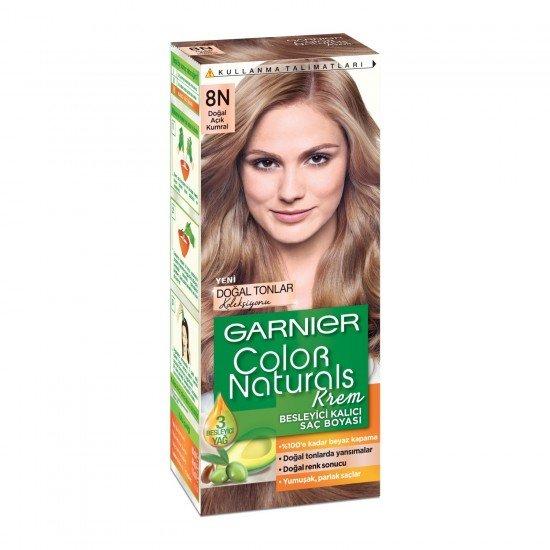 Garnier Color Naturals 8N Açık Kumral Saç Boyası
