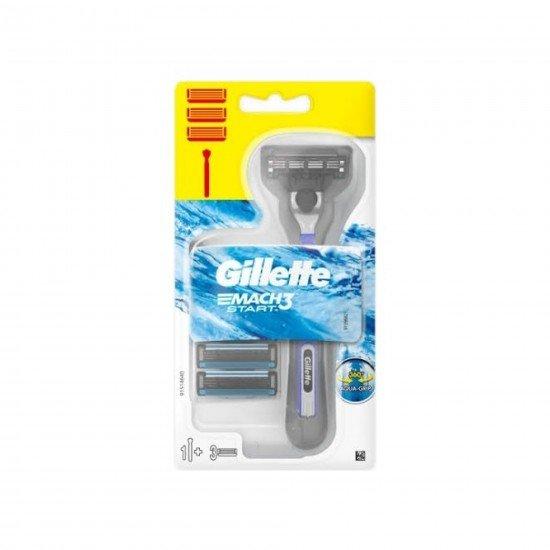 Gillette Mach3 Start Tıraş Makinesi + 3 Yedek Bıçak