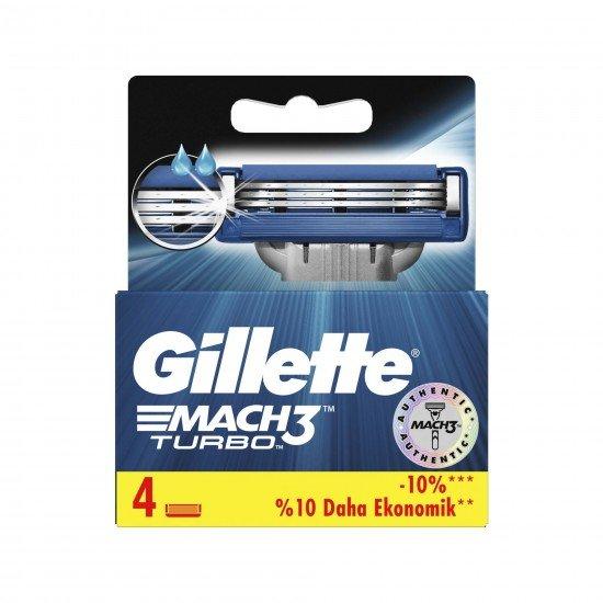 Gillette Mach3 Turbo Yedek Tıraş Bıçağı 4 LÜ