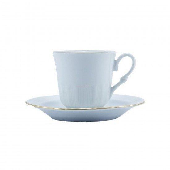 Güral Porselen Sedefli Çay Fincan Takımı 6lı