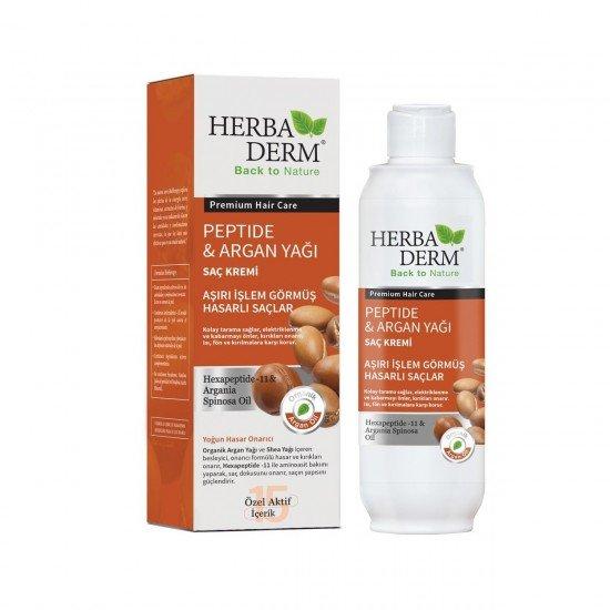Herbaderm Peptide&Argan Yağı Saç Kremi 330ml