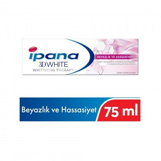 İpana 3 Boyutlu Beyazlık Therapy Hassas Beyazlık Diş Macunu 75 ml
