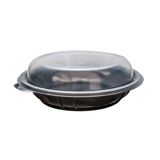 Kapaklı Siyah Salata Kabı 850 Cc 10 Adet