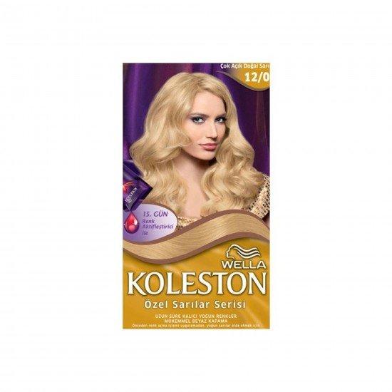 Koleston Kit Set Saç Boyası 12/0 Çok Açık Doğal Sarı