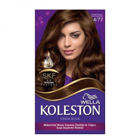 Koleston Kit Set Saç Boyası 4/77 Kadife Kahve