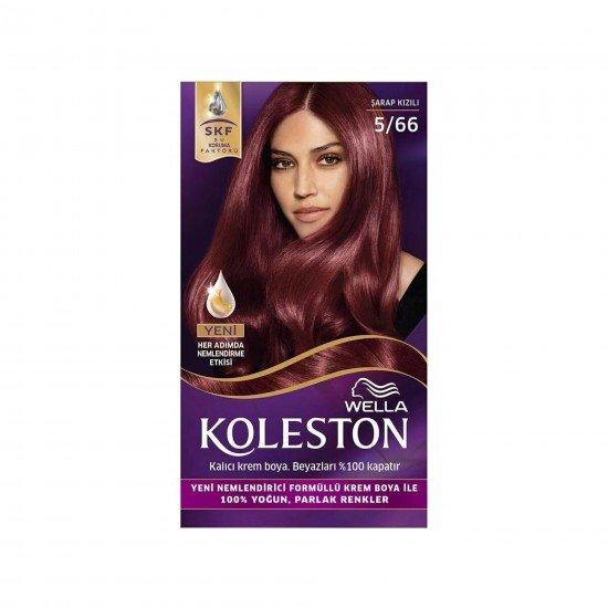 Koleston Kit Set Saç Boyası 5/66 Şarap Kızılı