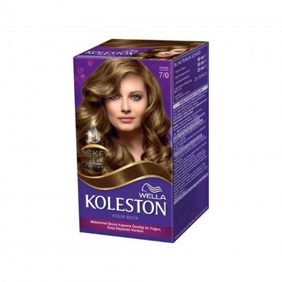 Koleston Kit Set Saç Boyası Saç Boyası 7/0 Kumral