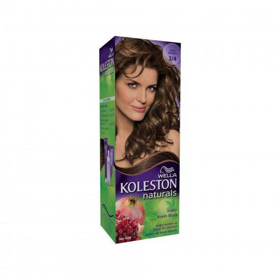 Koleston Naturals Set Saç Boyası 3/4 Koyu Kestane