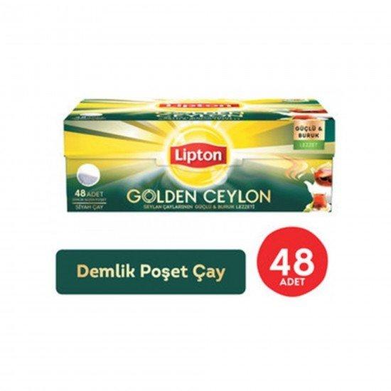 Lipton Golden Ceylon Demlik Poşet Çay 48li