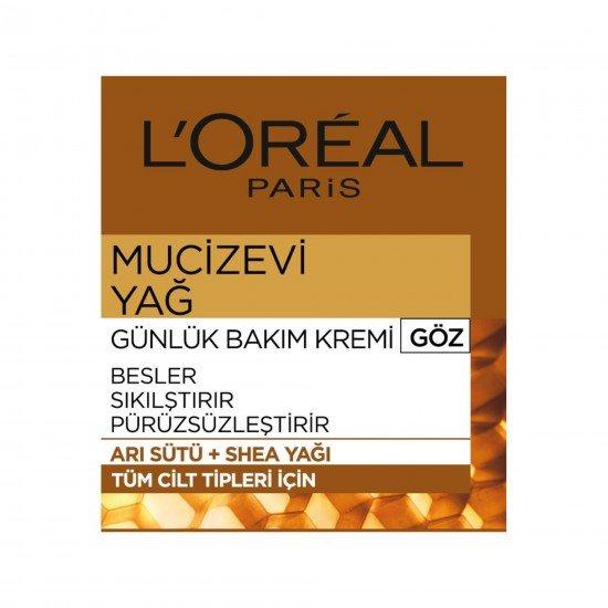 Loreal Mucizevi Yağ Günlük Göz Bakım Kremi 15 ML
