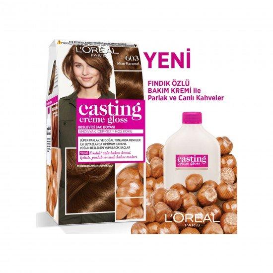 Loreal Paris Casting Creme Gloss Saç Boyası 603 Altın Karamel