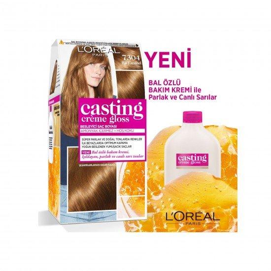 Loreal Paris Casting Creme Gloss Saç Boyası 7304 Bal Karamel