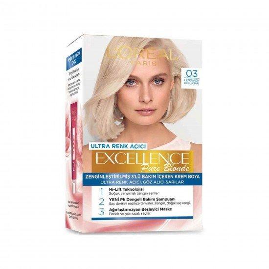 Loreal Paris Excellence Creme Saç Boyası 03 Ultra Açık Küllü Sarı