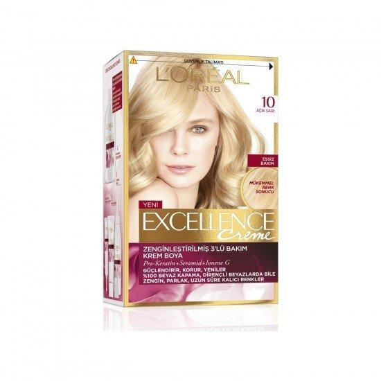 Loreal Paris Excellence Creme Saç Boyası 10 Açık Sarı
