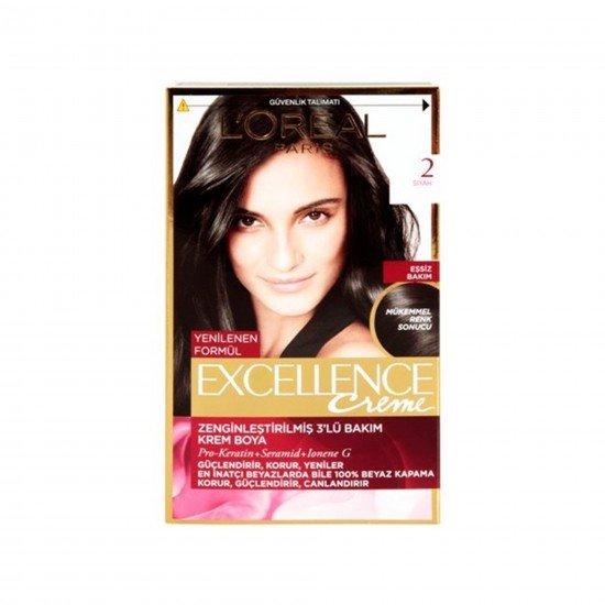 Loreal Paris Excellence Creme Saç Boyası 2 Siyah