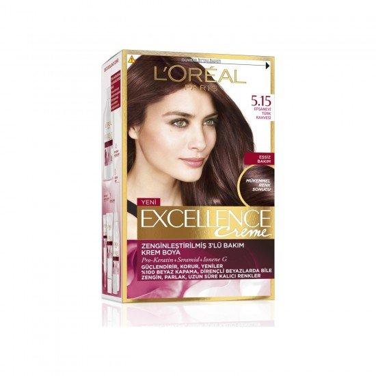 Loreal Paris Excellence Creme Saç Boyası 5.15 Efsanevi Türk Kahvesi