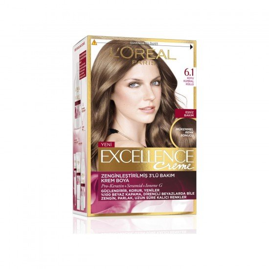 Loreal Paris Excellence Creme Saç Boyası 6.1 Koyu Kumral Küllü