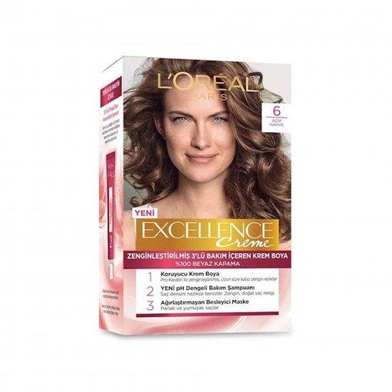 Loreal Paris Excellence Creme Saç Boyası 6 Açık Kahve